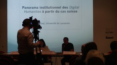 "Conférence ""Panorama institutionnel des Digital Humanities à partir du cas suisse : vers la dissémination Digital Humanities ?"" par Claire Clivaz / Introduction aux humanités numériques - lundi 26 mai"